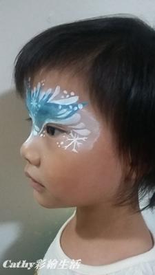 """万圣节脸妆diy """"frozen""""脸部彩绘自己来"""