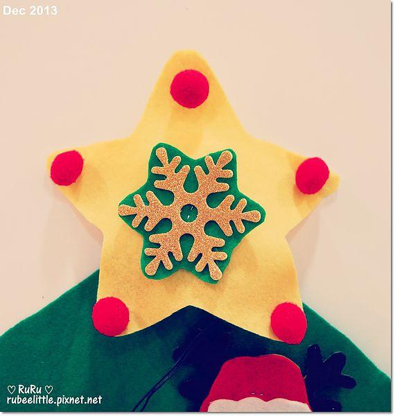 2y3m rubee 创作 ║[craft] 第一颗不织布手作圣诞树 felt christmas