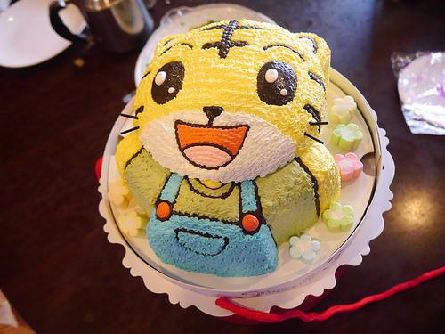 可爱巧虎立体蛋糕.朋厨法式布丁蛋糕.美味温馨陶然亭乾妈们庆生