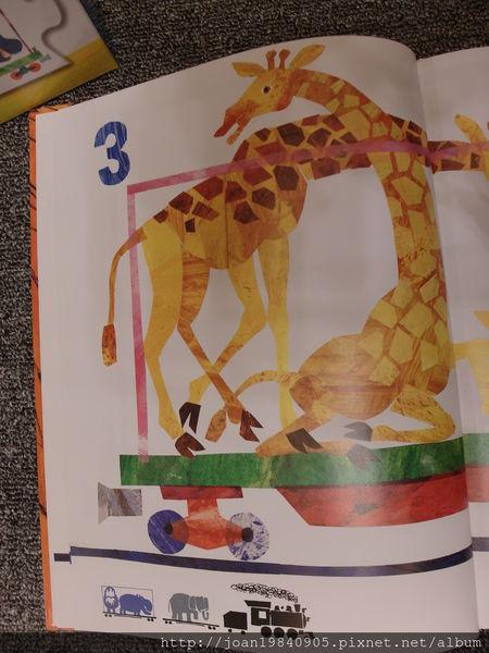 学习教室★123到动物园绘本 火车拼图
