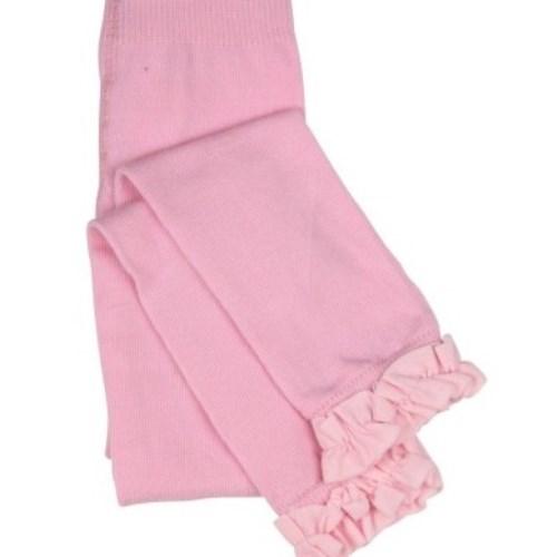 【HELLA 媽咪寶貝】美國 RuffleButts 小公主甜美荷葉邊內搭褲(襪) 溫柔淡粉(RBRT006)