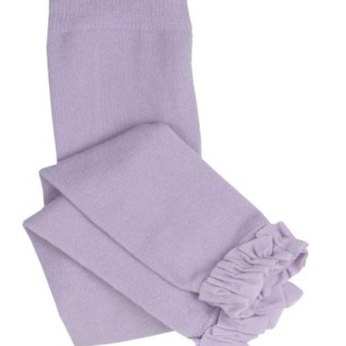 【HELLA 媽咪寶貝】美國 RuffleButts 小公主甜美荷葉邊內搭褲(襪) 薰衣草紫(RBRT004)