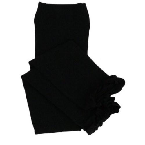 【HELLA 媽咪寶貝】美國 RuffleButts 小公主甜美荷葉邊內搭褲(襪) 經典黑(RBRT001)