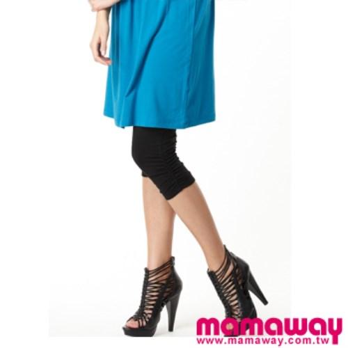 Mamaway 孕婦抽皺七分貼腿褲(共五色)