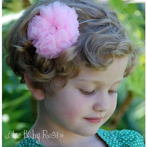 【HELLA 媽咪寶貝】美國 Chic Baby Rose 手工髮夾 玫瑰花款 (9種顏色選擇)