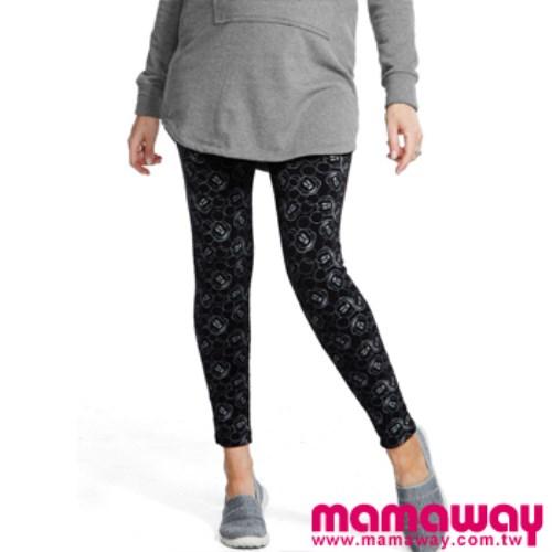 Mamaway 迪士尼滿版米奇頭貼腿褲