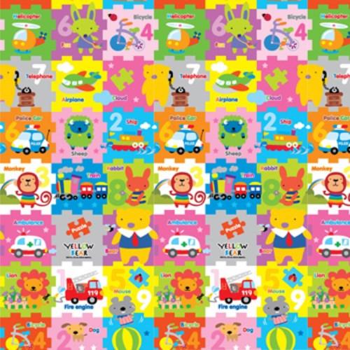 【韓國Parklon兒童地墊】Hi Living Mat系列 (黃色小熊動物拼圖)