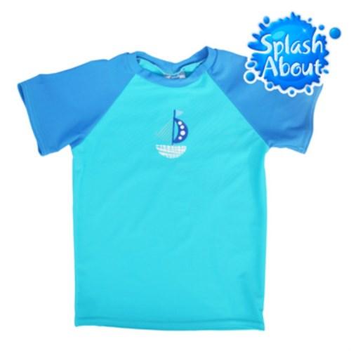 2015|新色上市《Splash About 潑寶》UV Close Fit 兒童抗 UV 防曬泳衣 -普普風帆船 上衣
