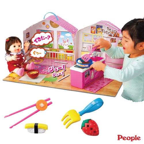 【日本People】POPO-CHAN會說話的廚房客廳組合+筷子叉子學習組合(配件)