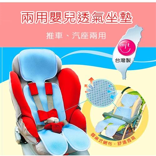 【悠遊寶國際-MIT手作的溫暖】嬰兒推車;安全座椅兩用--透氣坐墊(兩色可選)