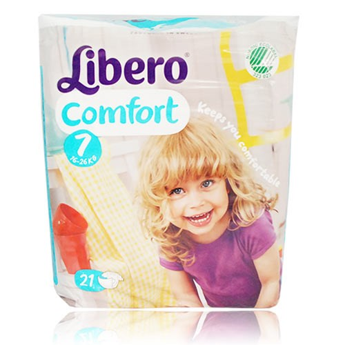 麗貝樂 Libero 嬰兒紙尿褲XXXL 7號-21片x8包(尿布)