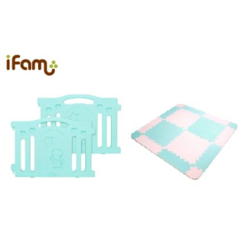 [韓國 Ifam] 延伸片(綠色)+EVA拼貼地墊套組